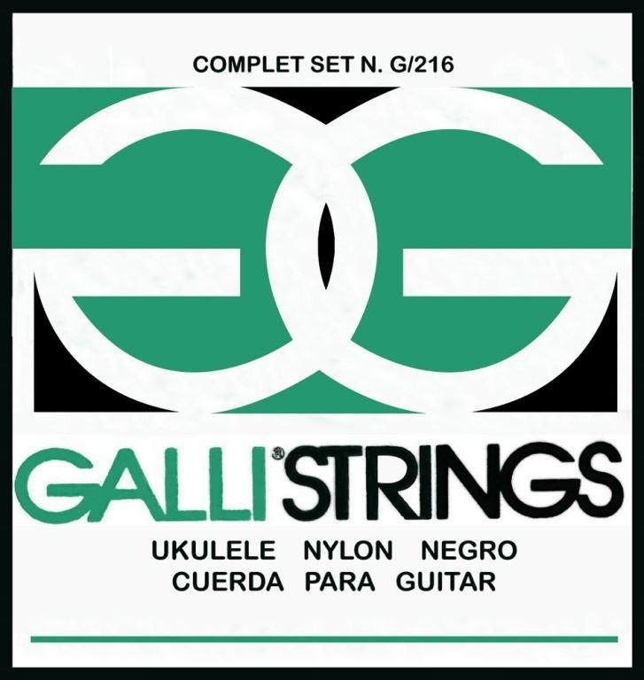 galli strings for soprano ukulele black nylon