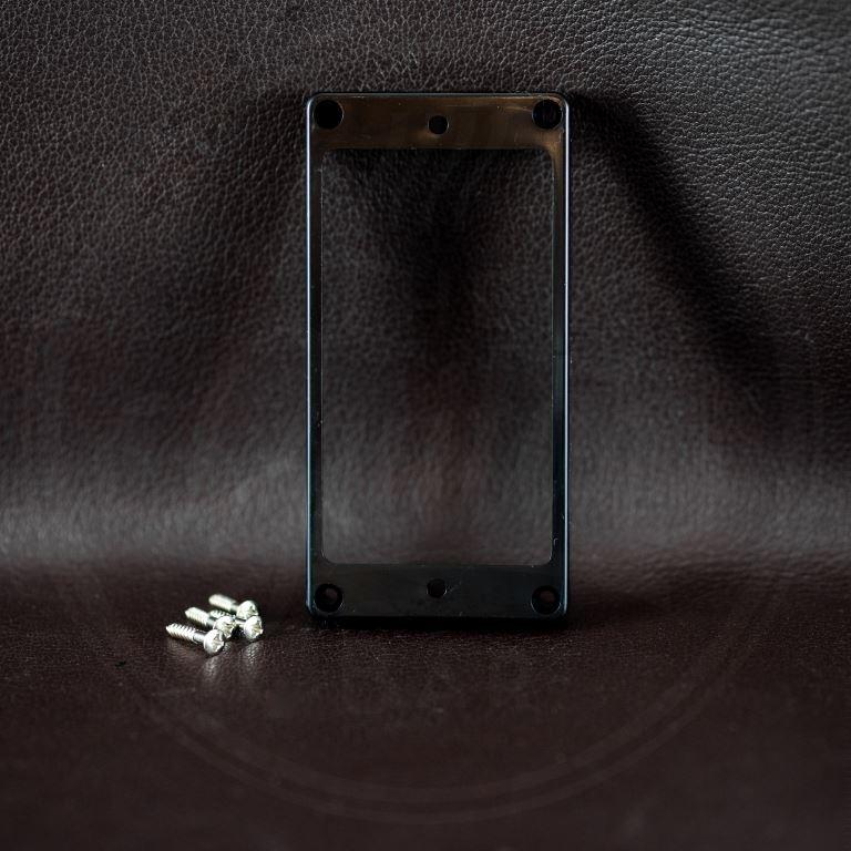 Boston humbucker, plastic, black, height: 10-11,7mm, high, flat