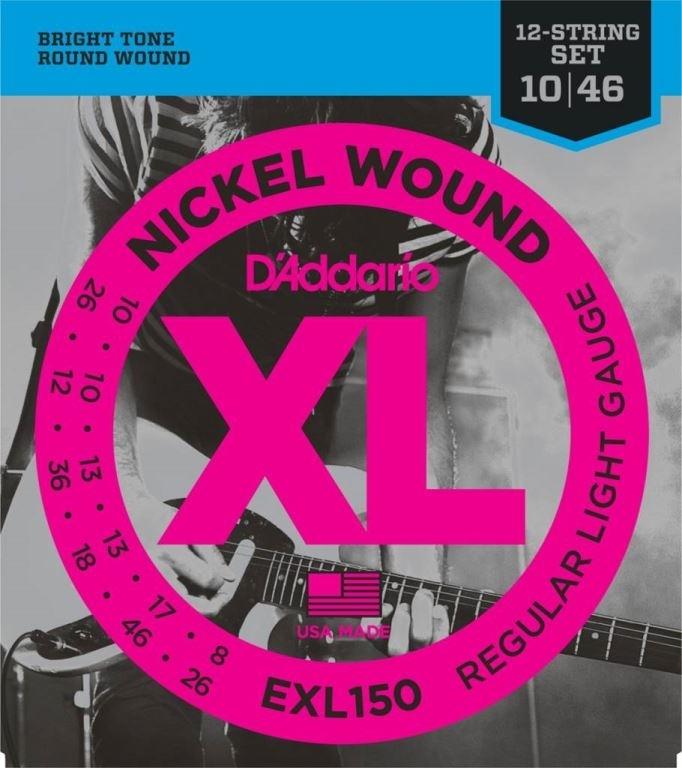 D'ADDARIO 12string E-git Nickel Wound