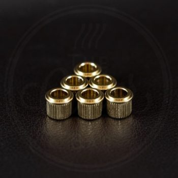 Kluson conversion tuner bushings, 9,98mm outside diam., set of 6, gold