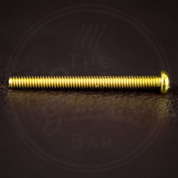 "StewMac humbucker height screw, 1-1/4"" (31,75mm), Philips roundhead, 3-48 thread, gold"