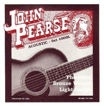 John Pearse Strings 600L Phosphor Bronze light