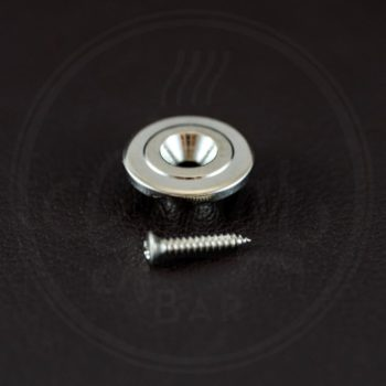 Boston for bass guitar, button model, nickel, with screw, 19mm, height 7mm