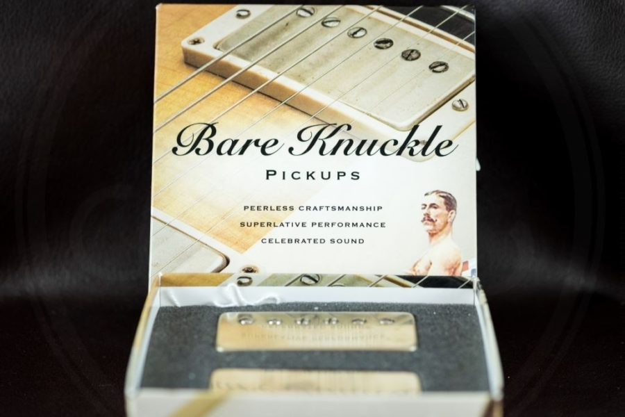 Bare Knuckle Pickups Irish Tour Strat single coil set, Vintage Stagger, parchment white covers, RW/RP polarity
