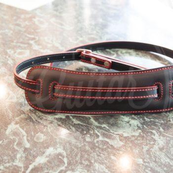 Vintage Skinny slim black - red thread