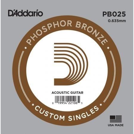 D'Addario Phosphor Bronze Acoustic 025