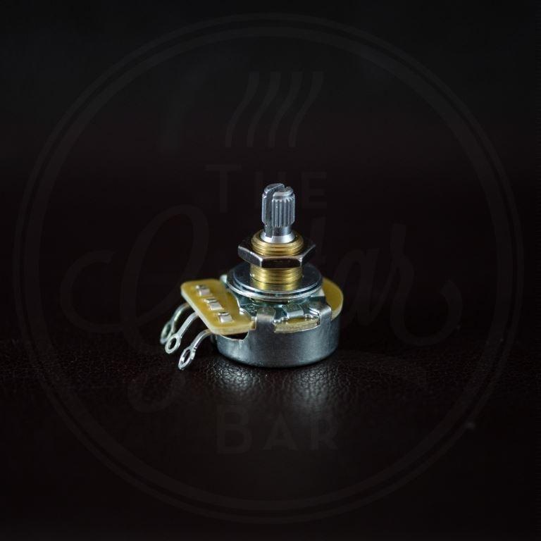 "CTS 250k audio potentiometer, standard length bushing .375"", 3/8"" diameter"