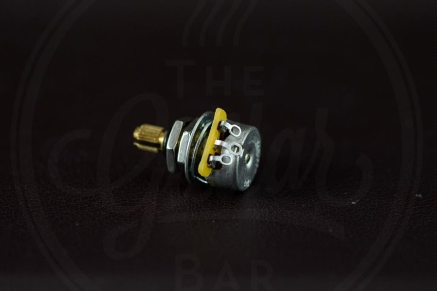 CTS 500k mini audio potentiometer, 9% tolerance, brass shaft