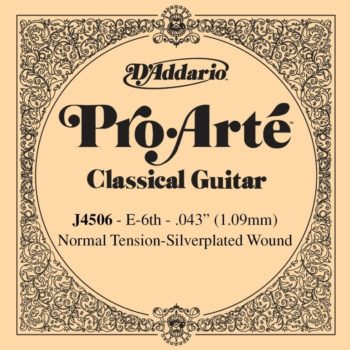D'ADDARIO Pro Arte Nylon 6th silver wound/normal tension