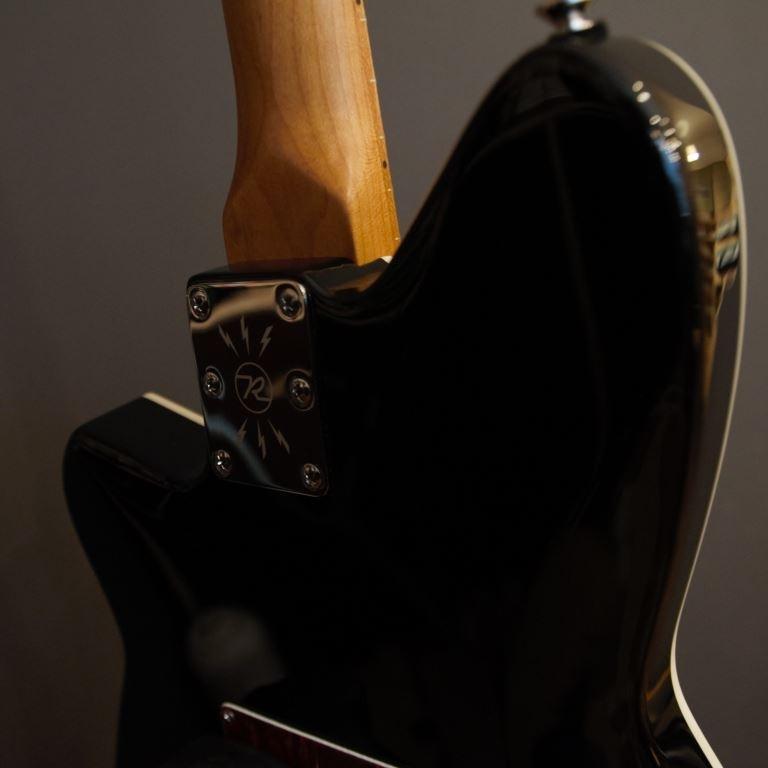 Reverend double agent roasted maple fingerboard Wilkinson trem - transp midnight black