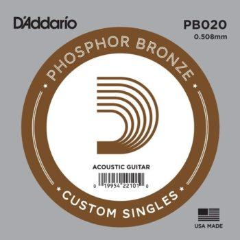 D'Addario Phosphor Bronze Acoustic 020