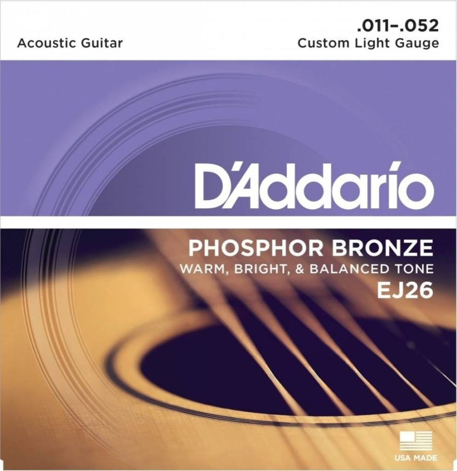 D'ADDARIO Snaren A-guitar Fosfor Brons Custom Light 11-52