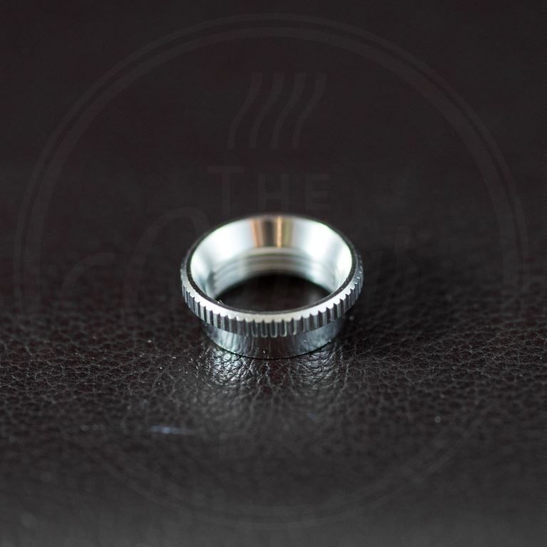 Switchcraft switch nut, deep, knurled, nickel, for thick top guitars