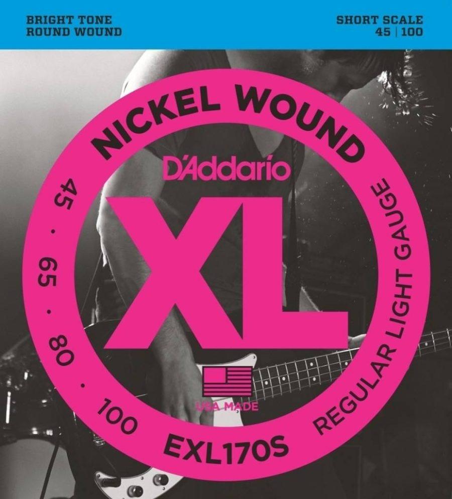 D'Addario Bassnaren XL Round wound nickel wnd short scale 45-65-80-100