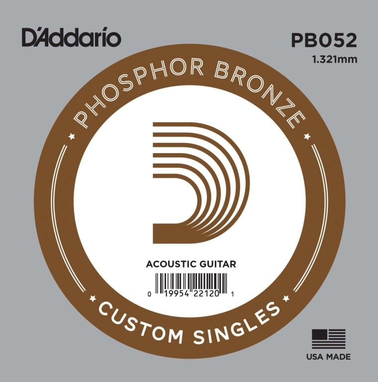 D'Addario Phosphor Bronze Acoustic 052