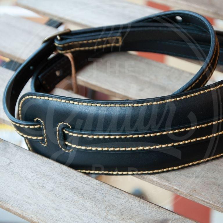 Kaffa Vintage Skinny black / gold stitching