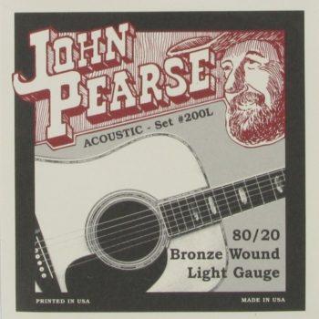 John Pearse Strings 200L 80/20 Bronze Light
