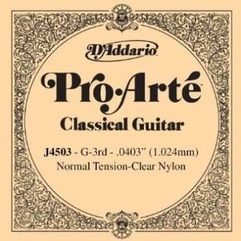 D'ADDARIO Pro Arte Nylon 3th clear nylon/normal tension