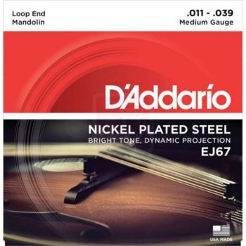 D'Addario mandoline snaren Nickel plated steel 11-39