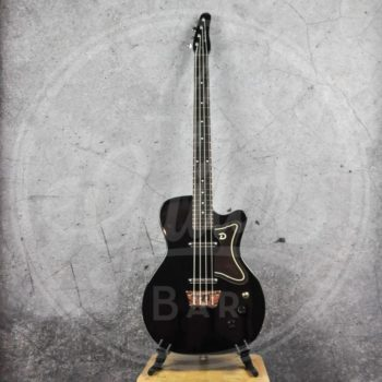 DANELECTRO 56 SINGLE CUT BASS GUITAR - BLACK