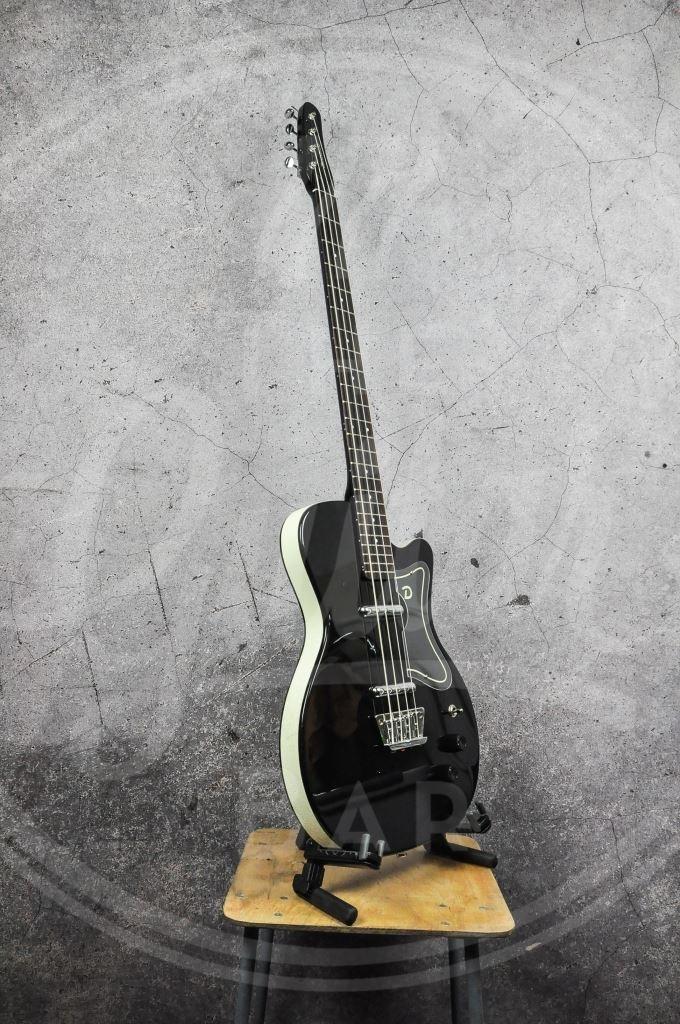 DANELECTRO 56 SINGLE CUT BASS GUITAR - BLACK