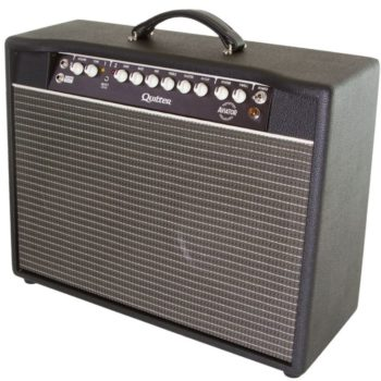 """QuilterAviator Gold 2x10 inch combo with dual 10"""" Celestion G10 Vintage speakers, open back"""
