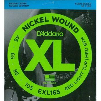 D'Addario Bassnaren XL Round wound nickel Set Long 45-105