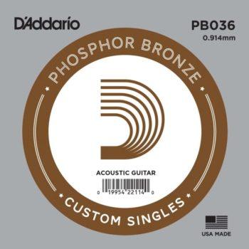 D'Addario Phosphor Bronze Acoustic 036