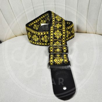 "Gaucho traditional series 2"" jacquard weave - yellow on black"