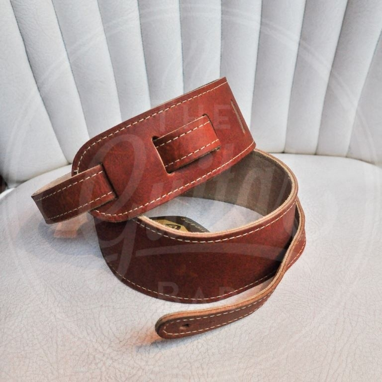 Guild deluxe leather strap brown