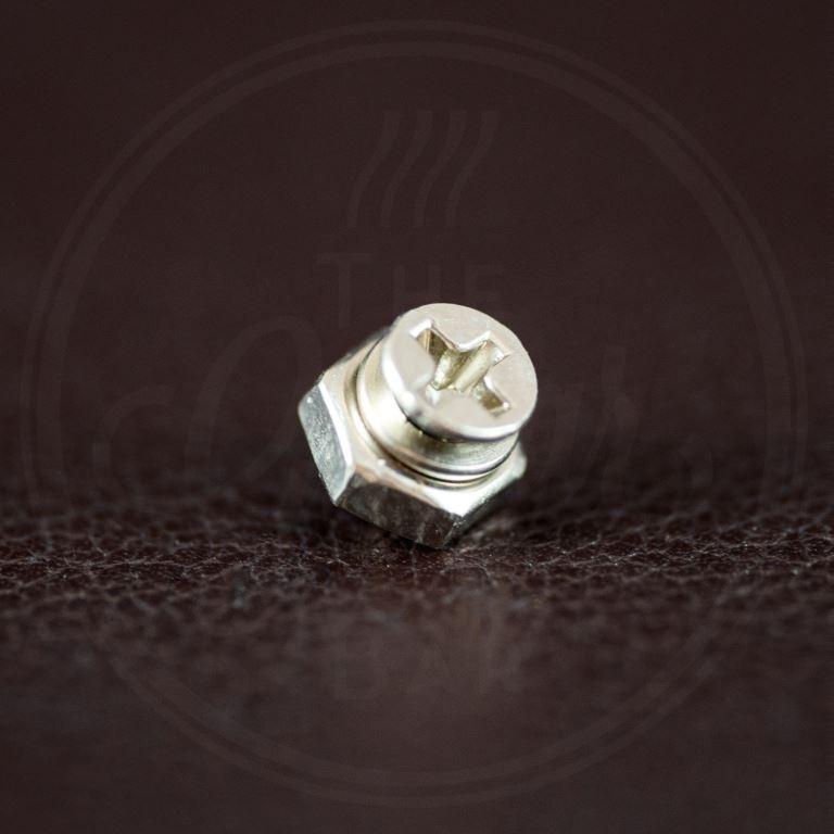 WD Music screw kit for pickguard bracket, chrome