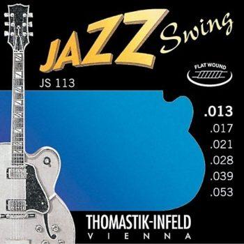 Thomastik Jazz swing string set E-guit,nkickel flatwound 13-53