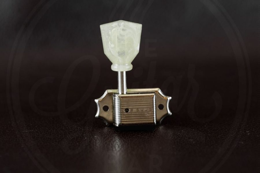 Kluson Vintage style 3L/3R individual tuners, single ring, plastic Keystone buttons, nickel