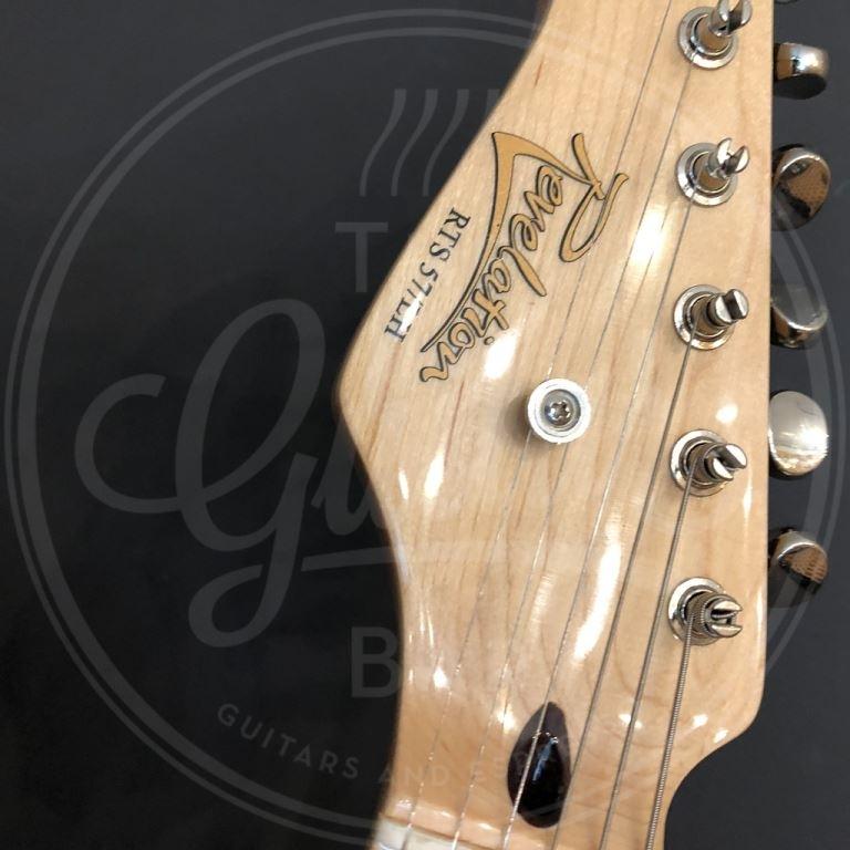 Revelation strat guitar lefthand 3 x single coil Entwistle pu maple fingeboard daphne blue