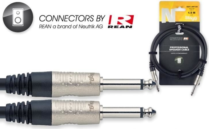 Stagg 1,5mtr speakerkabel J/J 2 x 1,5mm2