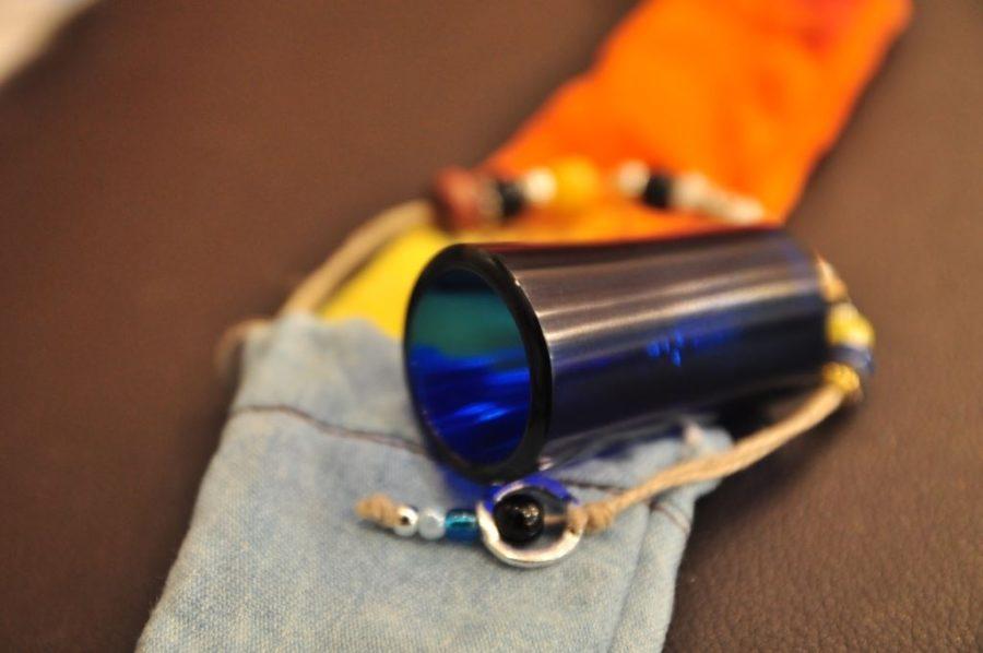 Handmade Dlx double cut cobalt blue Seamless Slide