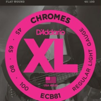 D'Addario Bassnaren XL Chromes Flat Wound Long Scale 45-65-80-100