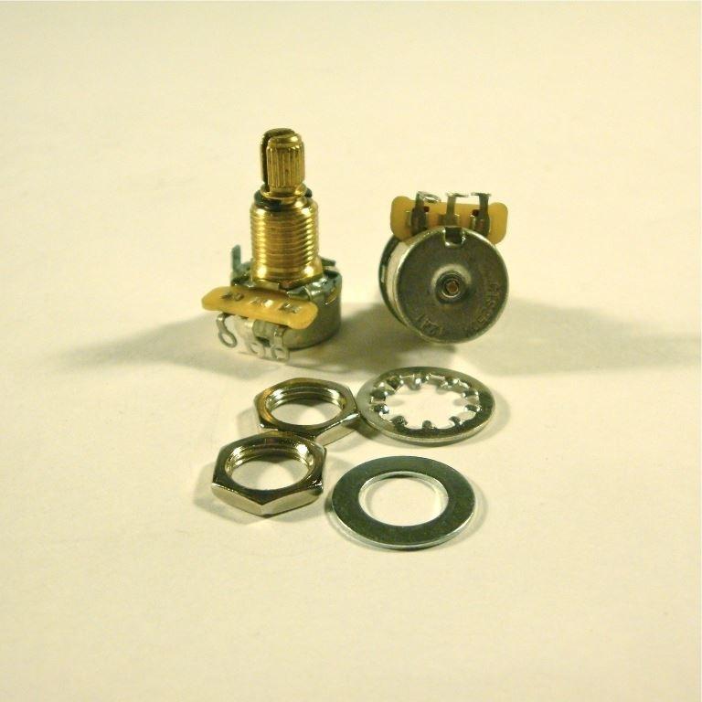CTS 250k mini audio potentiometer, 9% tolerance, brass shaft
