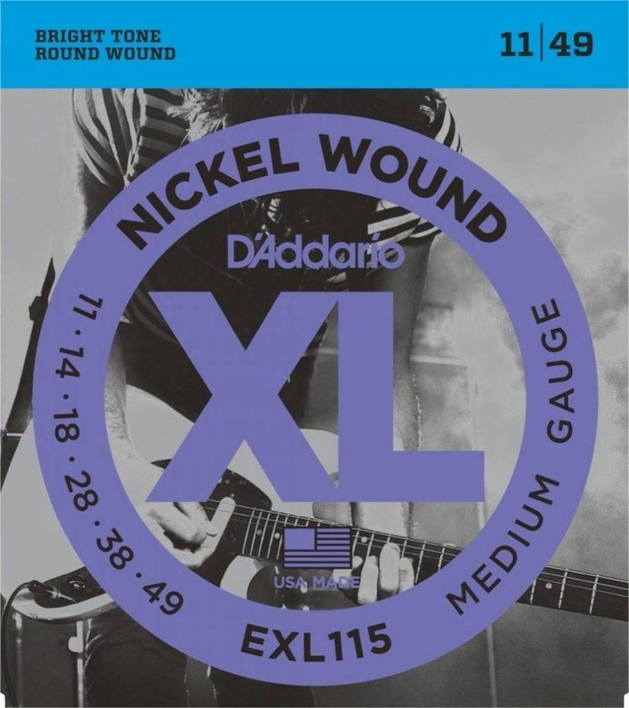 D'Addario E-guit Nickel wound 11-14-18-28-38-49