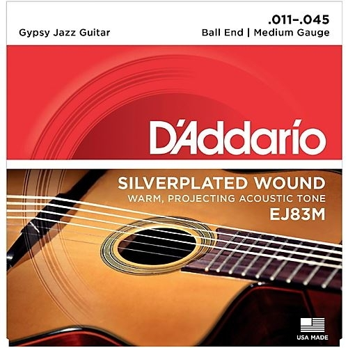 D'Addario Gypsy- silverplated wnd / ball end 11-45