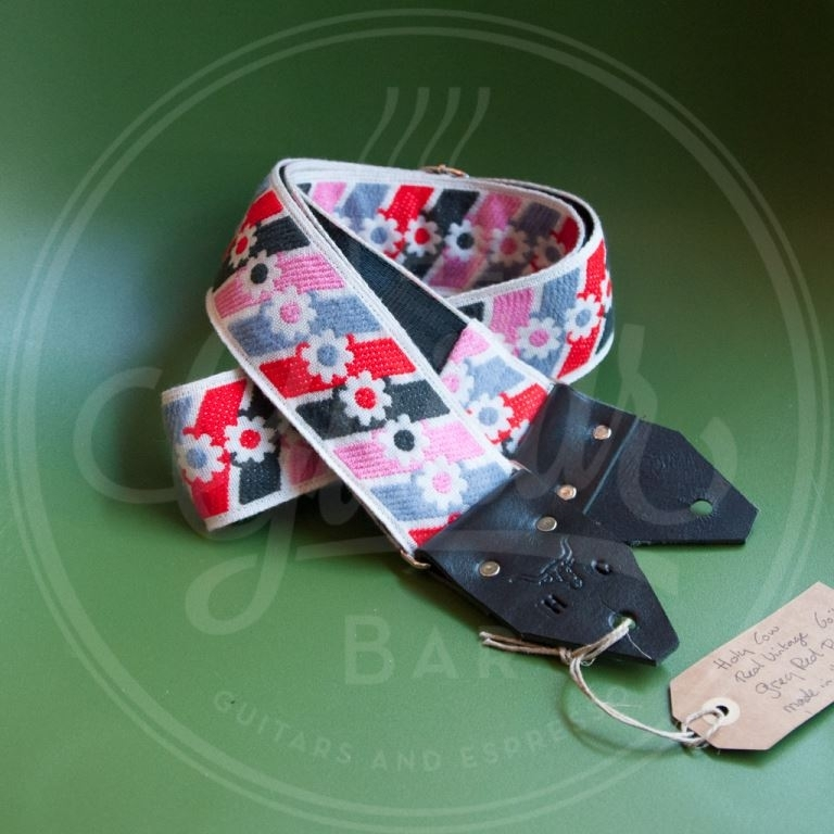 Holy Cow real vintage Grey Red Pink 60's strap