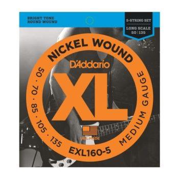 D'Addario round wound nickel 50-105/135