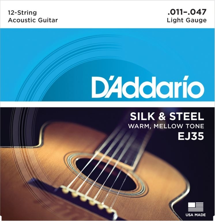 D'Addario silk & steel light