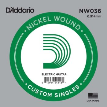 D'Addario Nickel Wound Electrisch 036