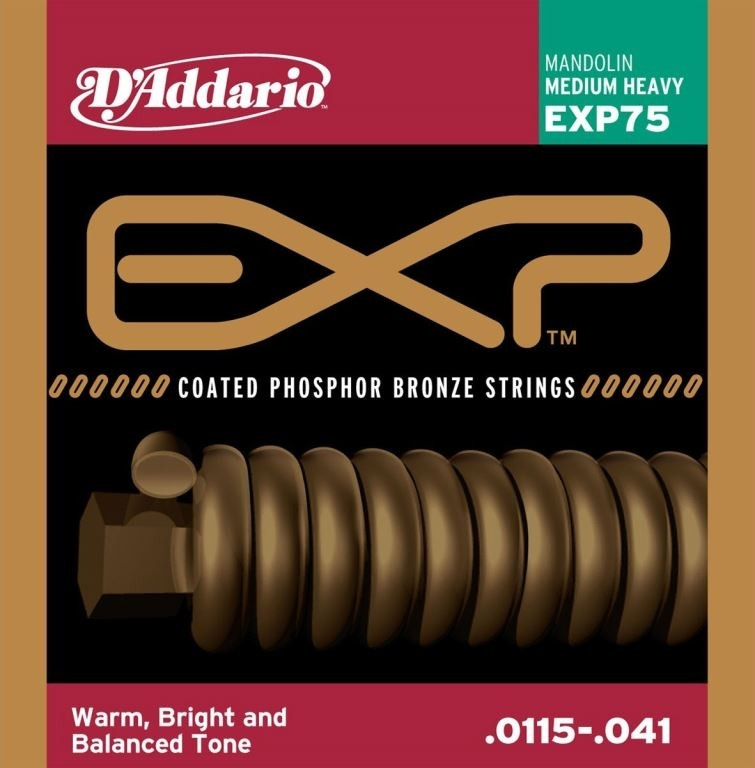 D'Addario coated phosphor bronze mandolin strings