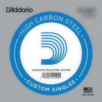D'Addario High Carbon Steel Acoustic/electric 018