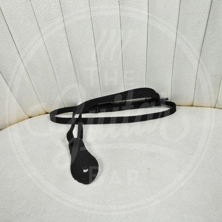Levy's strap carved leder mandolin zwart extra kort