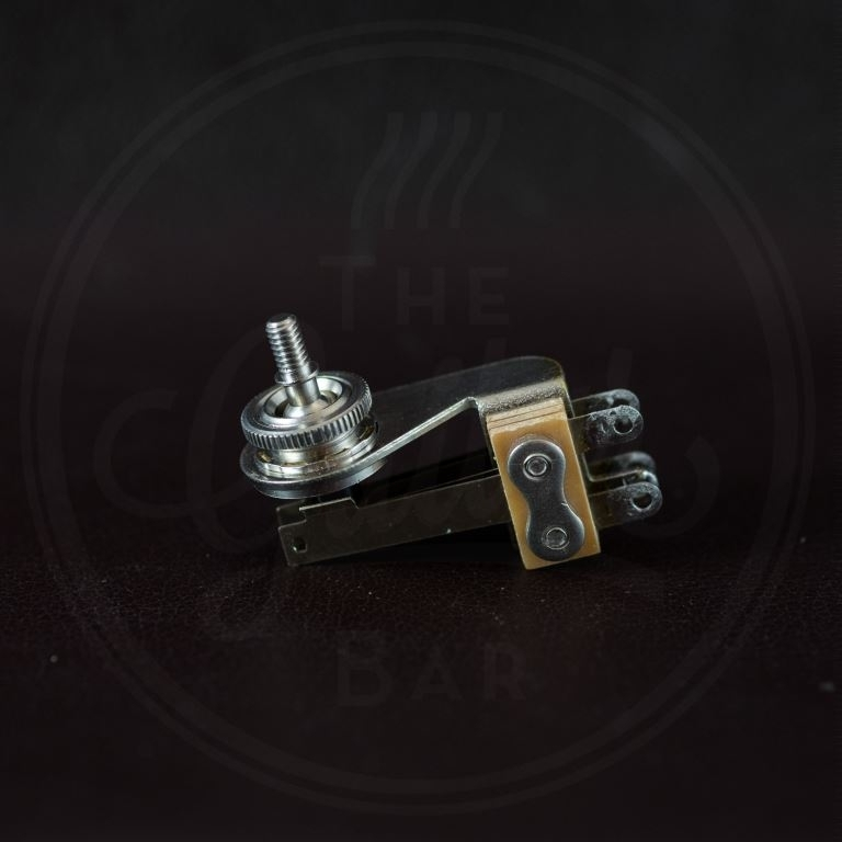 Switchcraft toggle switch 3-way angled, nickel, no cap, for thin body guitars (SG, Explorer, Firebir