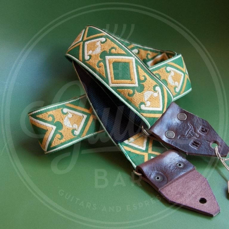 Holy Cow real vintage Green and Yellow Diamonds 60's strap