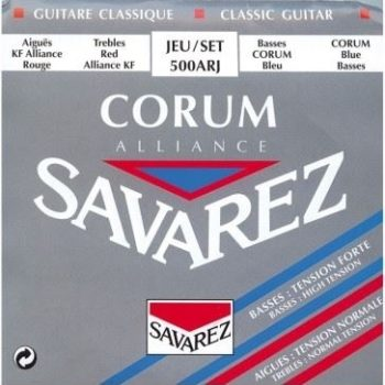 Savarez klassiek alliance corum bas= hard tension treble= normal tension
